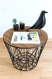 large size of basket side table the veneered surface is durable stain resistant and easy to