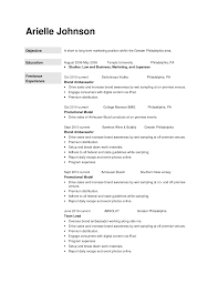 Modeling Resume Template Promotion Resume Sample Templates Memberpro Co Brand Ambassador 18