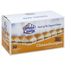 White Castle Cheeseburgers Microwaveable Sandwiches 32 Sandwiches