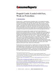 prepaid cards loaded with fees weak on protections pages 1 34 text version fliphtml5