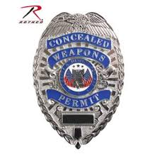 Rothco Deluxe Badge - <b>Concealed</b> Weapons Permit / <b>Silver</b>