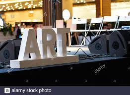 Big Letters With Lights Big Letters On The Stage In The Mall Art Stage Lights At