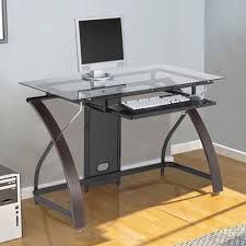 extraordinary small glass desk design stylish all office ikea for home uk with drawer clock lamp canada table
