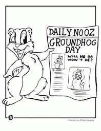 Small Picture Groundhog Day Coloring Pages Animal Jr