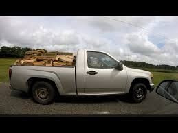 big load in small 4 cylinder truck - YouTube