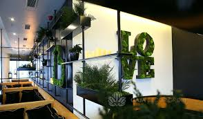 flat and pole moss wall letters