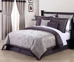 grey purple comforter sets and gray bedding queen embroidered set dark com purple grey bedding sets