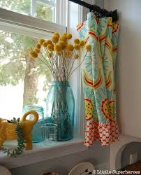 Turquoise Kitchen Curtains
