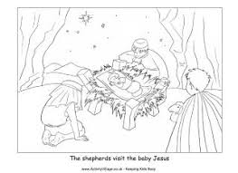 Small Picture Nativity coloring page shepherds visit baby Jesus Kids Ministry