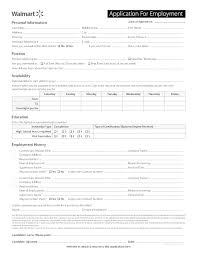 Free Downloadable Employment Application Forms Free Printable Walmart Job Application Form
