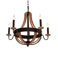 hampton bay talo 5 light driftwood chandelier