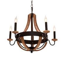talo 5 light driftwood chandelier