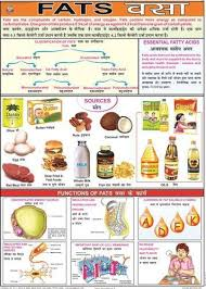 Nutrition Food Chart Fats Food Nutrition Chart