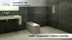Lux Elements Produkt Bodengleiche Duschen Für Jedes Bad Youtube