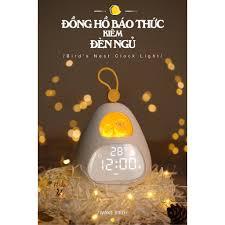 Đồng hồ báo thức đa chức năng Đèn ngủ tổ chim thông minh có kết nối  Bluetooth Quà tặng đẹp - Đồng hồ treo tường