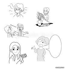 女性の素材イラスト02 Buy This Stock Illustration And Explore