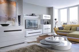 Living Room Cabinet White Gloss Sideboard Dresser Buffet 4 Door Cabinet Modern Living