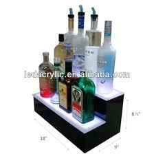 Bar Bottle Display Stand Liquor Bottle Display Shelves Custom Retail Store Floor Standing 32
