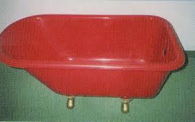 antique red tub