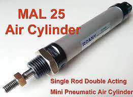 NEW <b>MAL</b> 25mm x 400mm Single Rod Double Acting Mini ...