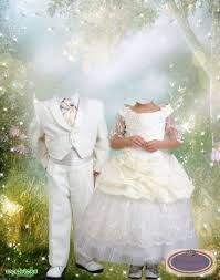 Lovely Young Wedding Psd Template Costumes For Photos