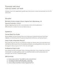 Resume Virginia Tech