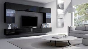 wall mounted cabinets. Image Is Loading MODERN-BLACK-LIVING-ROOM-FURNITURE-SET-WALL-MOUNTED- Wall Mounted Cabinets H