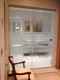 internal sliding glass doors with etched modesty panel