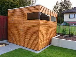 Gartenhaus Im Modernen Design Aus Holz In Form Eines Kubus Mit