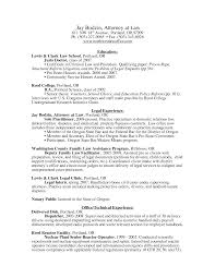Juris Doctor Resume Northwest Law Office Jay Bodzin Resume