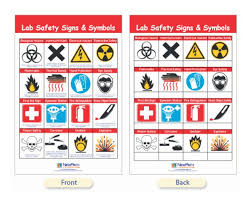 Laboratory First Aid Chart Newpath Learning Safety Symbols And Labels Bulletin Board