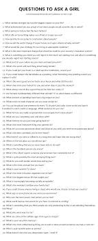 200 Questions to Ask a Girl - The only list you\u0027ll need.