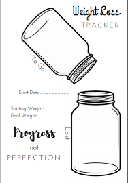 Weight Loss Colouring Chart Printable 5 Free Printable Bullet Journal Weight Loss Pages The