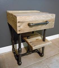diy pallet iron pipe. Recycled Pallet And Iron Pipe Side Table Diy A