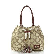 Best Style Coach Julia Logo Medium Apricot Totes Feq Outlet kKbe3