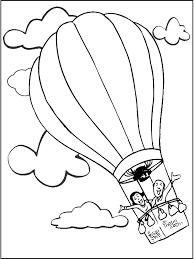 Kleurplaat Luchtballon Kleurplatennl