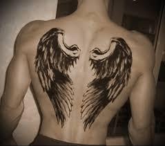 фото тату на спине крылья