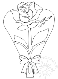 Flower Greeting Card Rose coloring pages of kids | Coloring Page