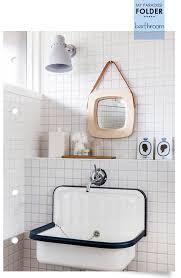 unique wall mounted enamel sink in