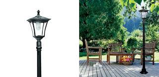 paradise garden lighting cast aluminum solar powered led streetlight style outdoor light