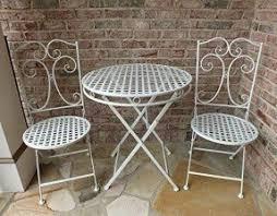 outdoor wrought iron furniture. Camilla Series White Metal Patio Furniture Bistro Set- Wrought Iron, Anti-rust Table Outdoor Iron