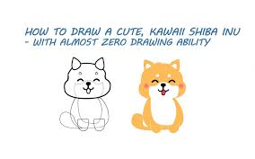 cute dog drawing how to draw a cute dog a shiba inu doge my first shiba