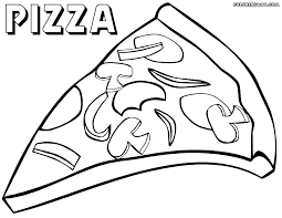 Small Picture Pizza Coloring Book Coloring Coloring Pages