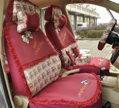 red rose car seat covers
