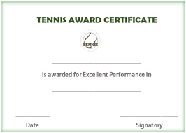 Download Award Certificate Templates 25 Free Tennis Certificate Templates Download Customize