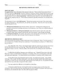 Worksheet. Point Of View Worksheets 3rd Grade. Caytailoc Free ...