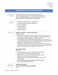 Warehouse Sample Resume Warehouse Associate Resume Sample Sugarflesh 24