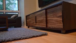 Furniture Accessories:Long Modern Wood Media Console Table Simple Modern  Wooden Media Console Table In