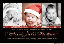 Christmas Card Baby Announcements Aideretsauver Com