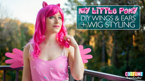 diy my little pony wings and ears wig styling